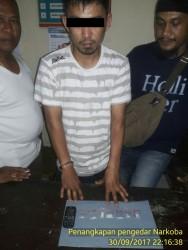 Pelaku Narkoba di interogasi pihak Polisi