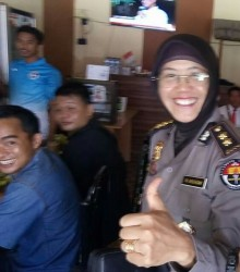 "Kabid Humas Polda Sulbar AKBP Hj. Mashura Bersama Awak Media ""Coffee Morning"""