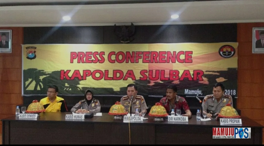 Press conference Polda Sulbar.