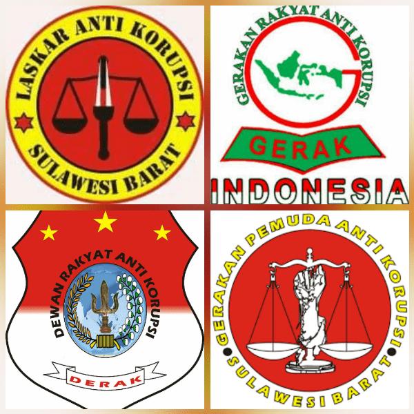 Logo empat lembaga anti korupsi Sulbar