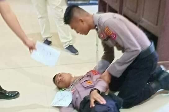 Rekonstruksi kasus penganiayaan Bripda Muh Faturrahman Ismail, personil Polda Sultra.