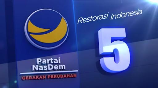 Foto : Partai Nasdem pada Pemilu 2019