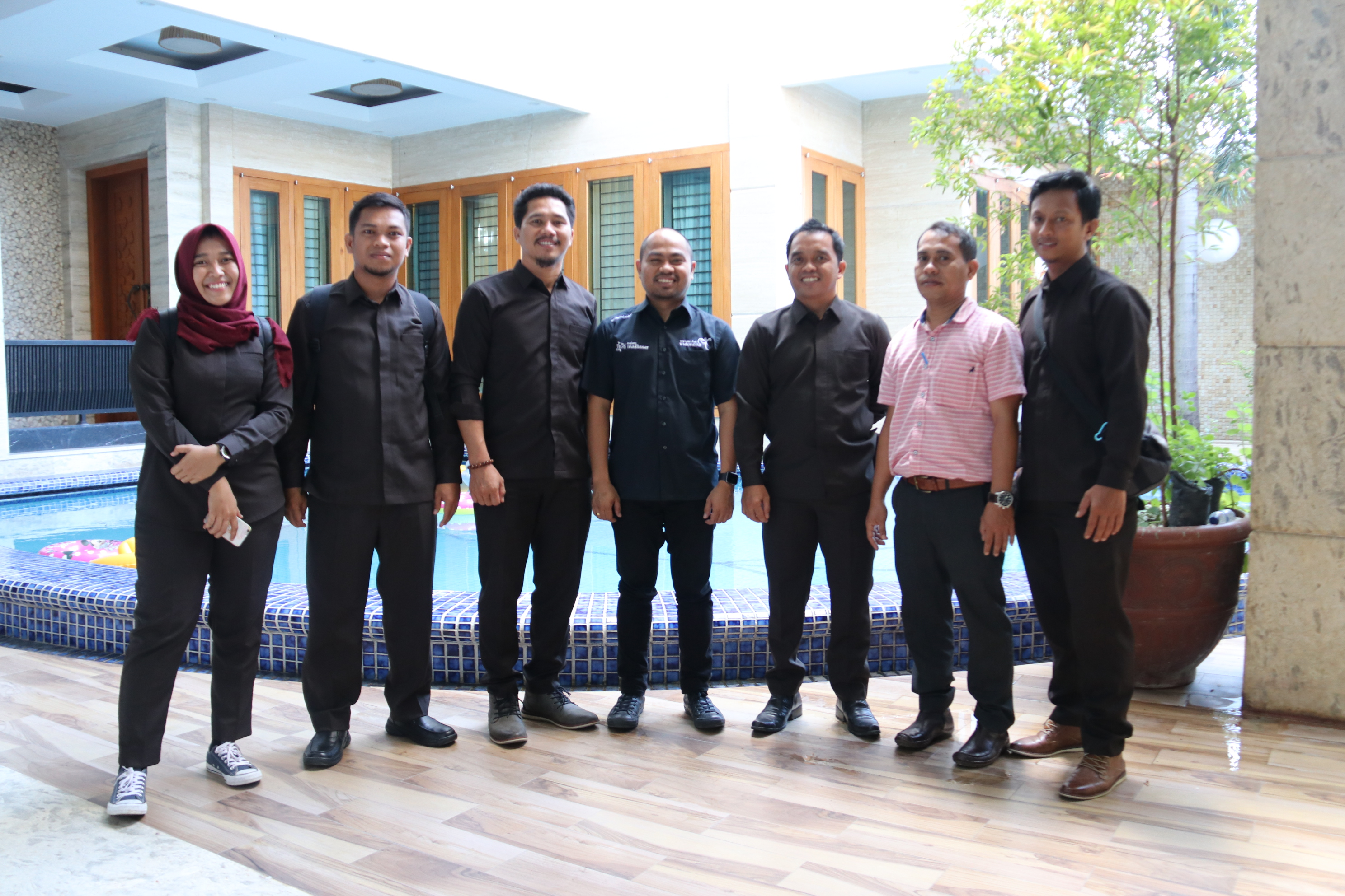"img ""Semeja"" Kabid KIP Kominfo Mamuju Bersama Kabag Humas Pemkot Makassar, Obrolkan Strategi"