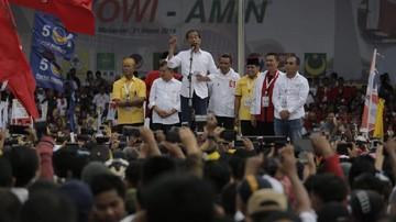 Kampanye Terbuka Jokowi di Makassar: TNI Nomor Satu di Asean