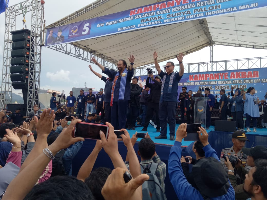 Kampanye Akbar Nasdem di Mamuju, Habsi: Saya Siap Wakafkan Diri