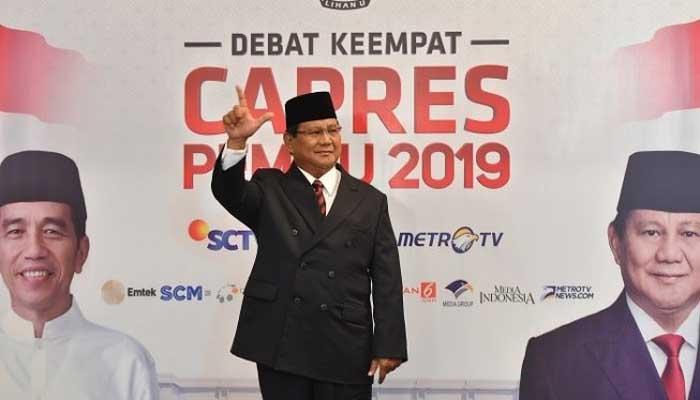 Survei PPPP Amerika: Elektabilitas Prabowo Unggul 16% dari Jokowi