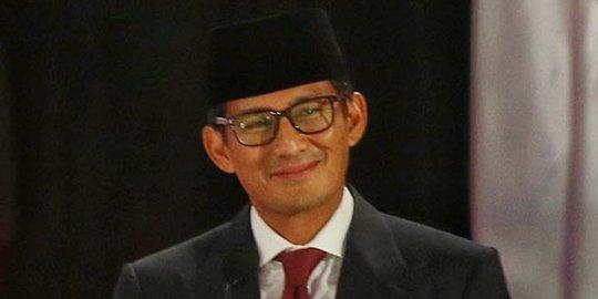 Tutup Debat Sandiaga Ajak Tusuk Prabowo Sandi
