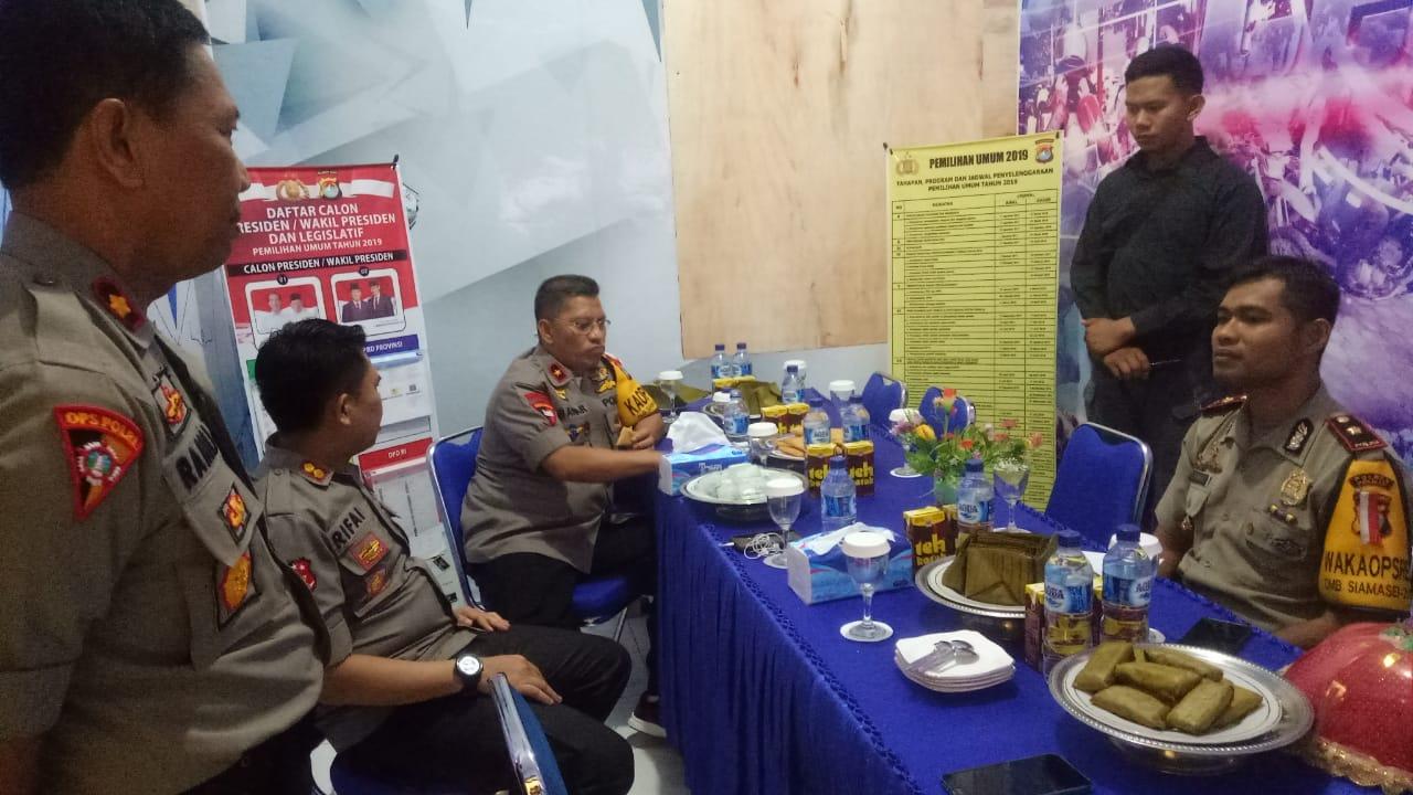Gambar Jelang Pemilu 2019, Kapolda Sulbar Cek Posko Operasi Mantap Brata