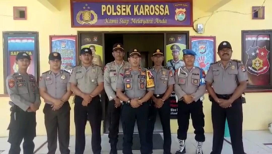 Kapolsek Karossa Imbau Masyarakat Jaga Keamanan Pemilu 2019
