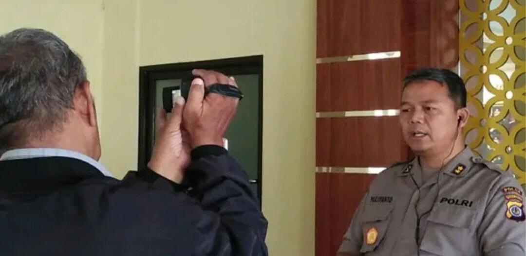 Kabid Humas Polda DIY AKBP Yuliyanto memberikan keterangan soal penangganan penganiayaan anggota Intel Korem 072 Pamungkas di Mapolda setempat, Senin (8/4/2019). foto: SINDOnews.