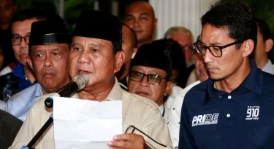 Gambar Prabowo: Meski Dicurangi, Tetap Kita akan Menang