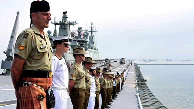 img Dua Kapal Perang Australia Merapat di Tanjung Priok