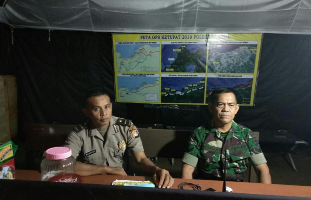 Lapsit Pos Pam Terpadu lebaran 2019, Pos Yan Simbuang Polres Mamuju.