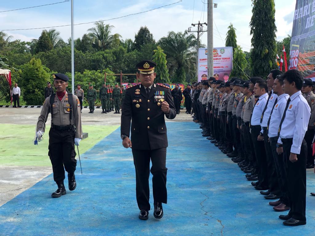 Puncak HUT Bhayangkara, Polres Mamuju Pusatkan Upacara di Mateng