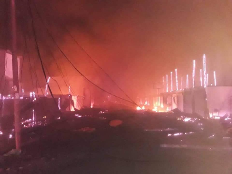 Gambar Kebakaran Melanda Pasar Topoyo Mateng