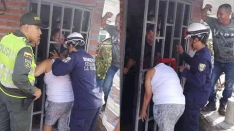 Gambar Menguping di Rumah Tetangga Kepala Wanita Ini Terjepit Terali