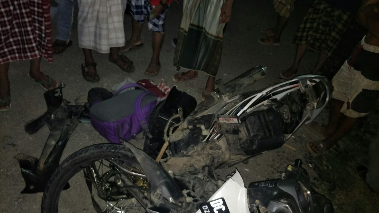 Gambar Kecelakaan Maut, Mobil vs Motor, 1 Meninggal