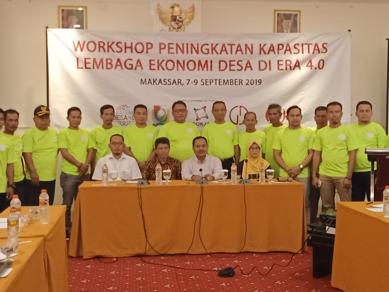 Gambar Pemdes dan Bumdes Majene Workshop di Makassar, Ini Tujuannya