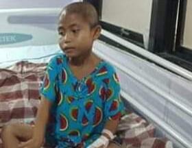 Gambar Kasihan, Bocah Penderita Kanker Usus Berharap Ada Bantuan Donatur