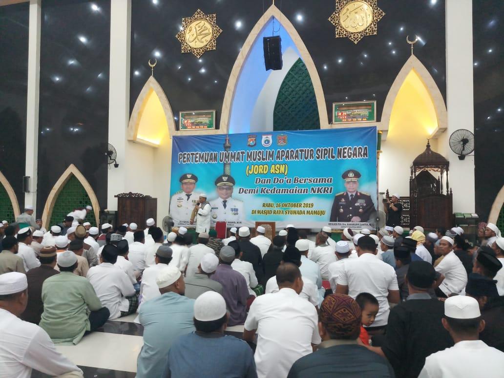 Gambar Doa Bersama ASN Sulawesi Barat Untuk Kedamaian NKRI