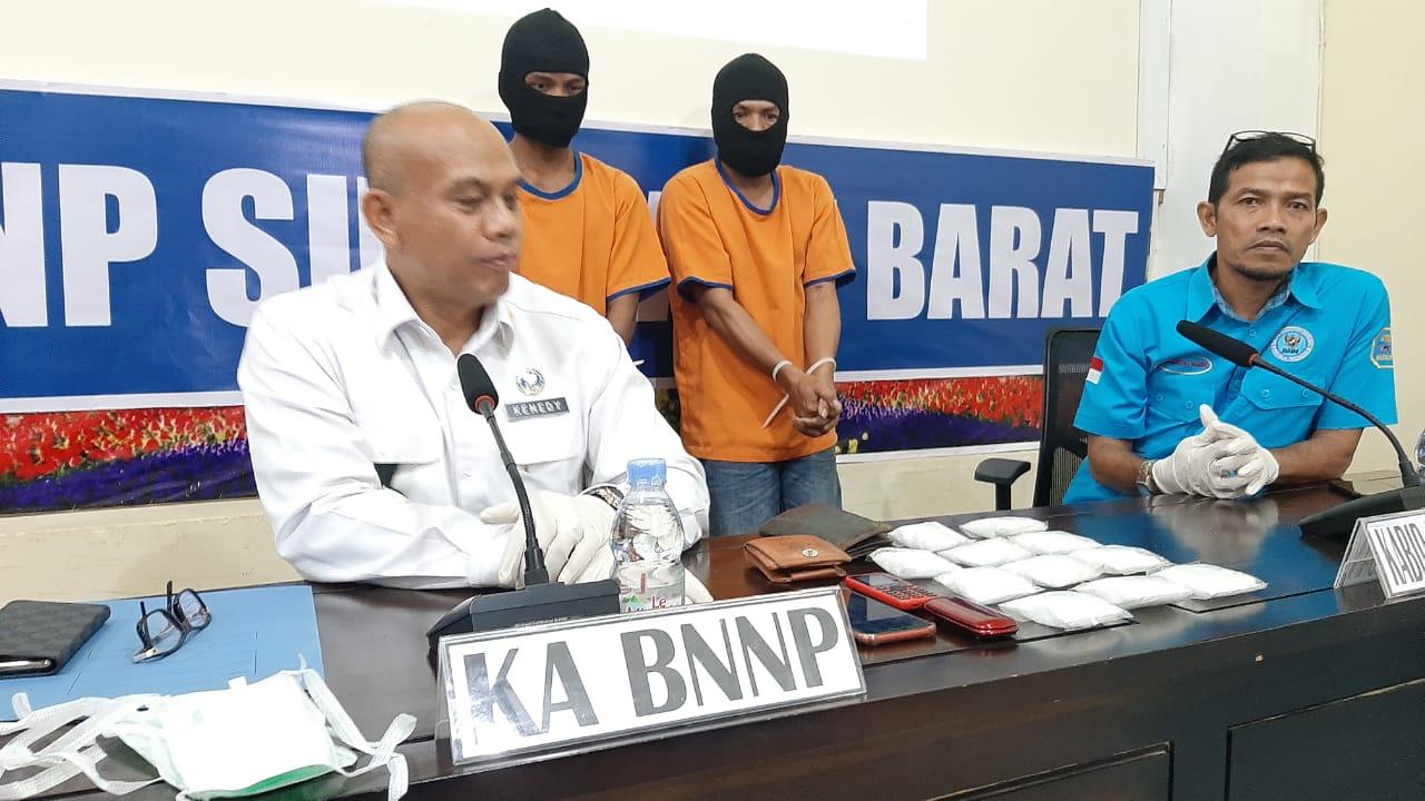 Gambar BNNP Sulbar Gagalkan Penyelundupan 550 Gram Sabu dari Malaysia. Pelaku Diancam Hukuman Mati