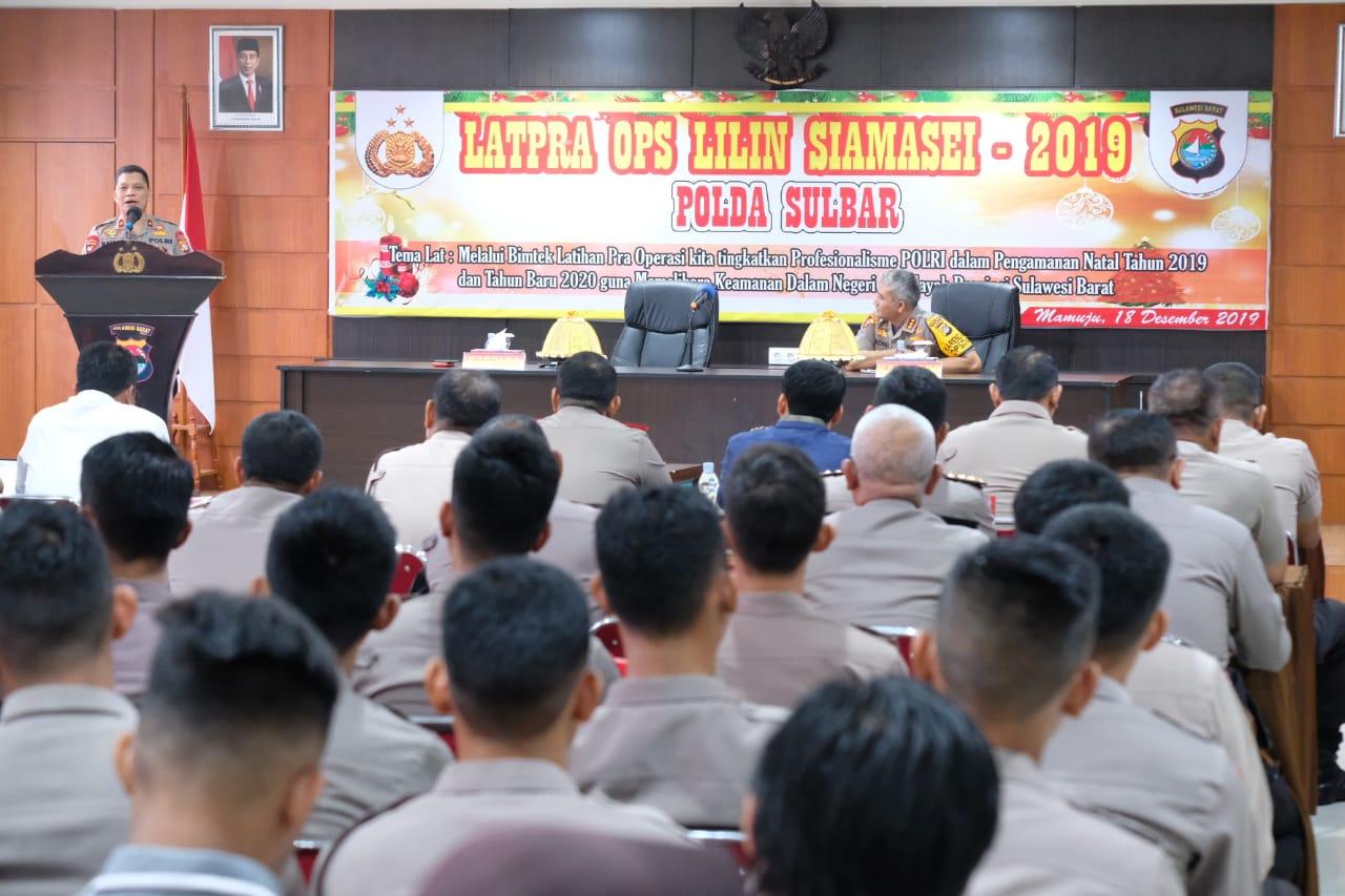 Polda Sulbar Gelar Latpraops, Mantapkan Operasi Lilin Siamasei 2019