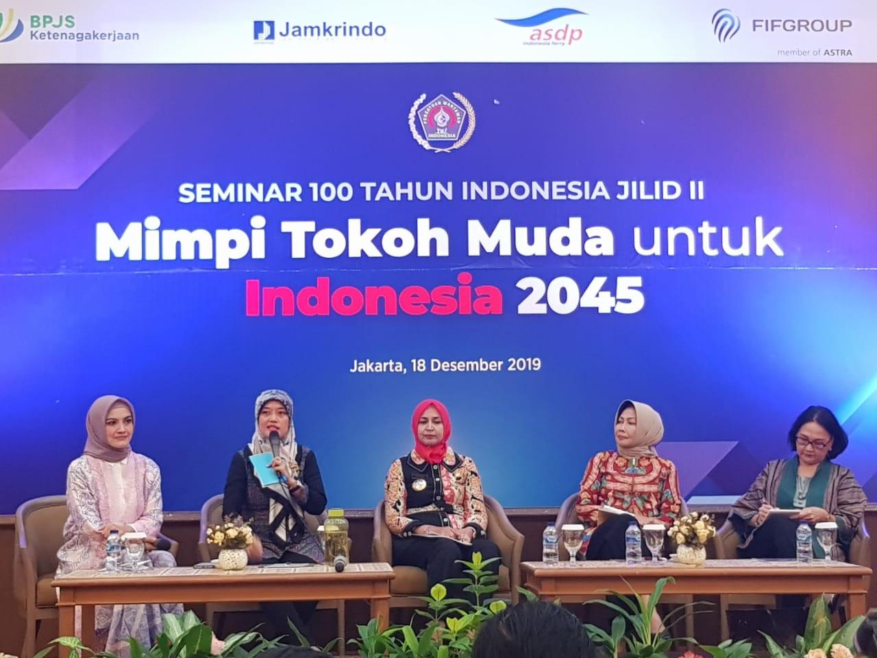 PWI Pusat Lanjutkan Serial Seminar 100 Tahun Indonesia 'Mimpi Tokoh Muda untuk Indonesia 2045'
