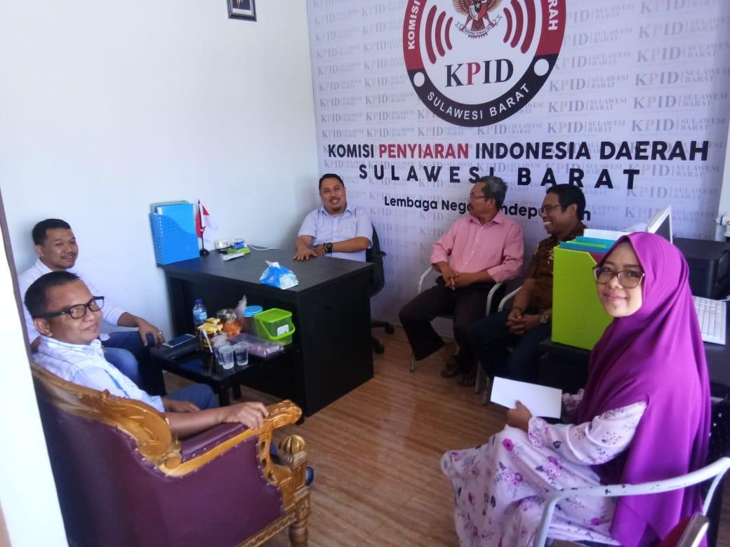 KPID Sulbar, Terima Kunjungan Direktur Sulbar TV