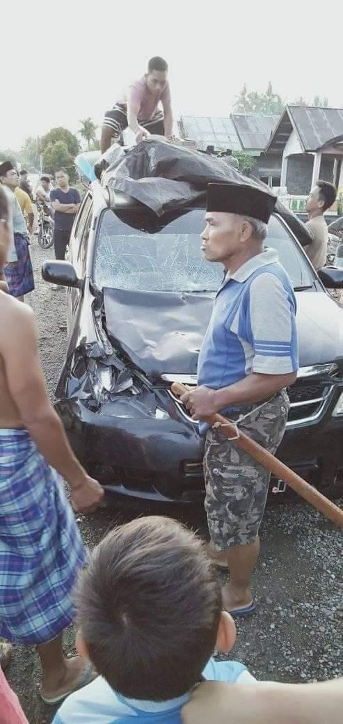 Gambar Tragis, Para Ibu Ini Tewas Diseruduk Mobil Sepulang Shalat Subuh