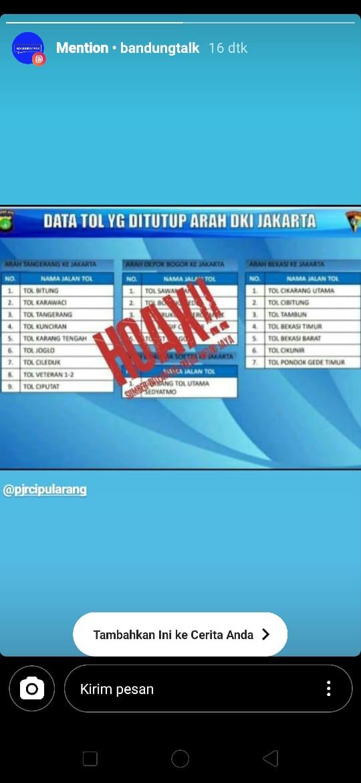 Jakarta Lockdown, Hoax