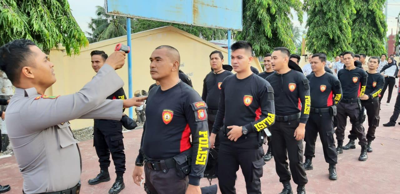 Seluruh Personel Polres Matra Cek Kesehatan Setiap Pekan