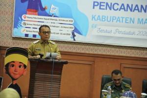 Gambar Bupati Mamuju Sebut, SP2020 Satu Hajatan Besar Bangsa Indonesia Tahun Ini