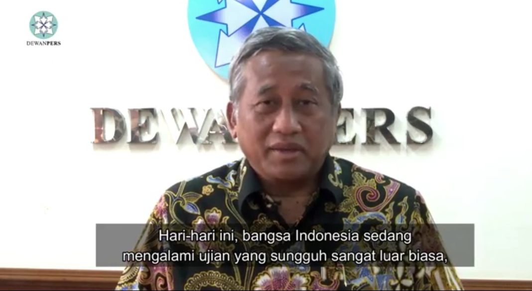 Pandemi Wabah Virus Corona, Ini Video Dewan Pers Ajak Insan Pers Bersatu