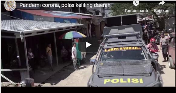 Gambar Polda Sulbar Himbau Warganya Antipasi Pandemi Corona, Ini Videonya