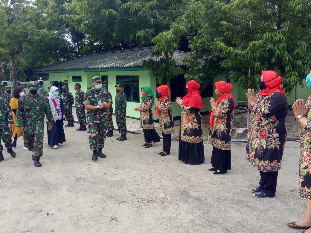 Gambar Kolonel Czi Firman Dahlan Berkunjung ke Makodim 1401/Majene