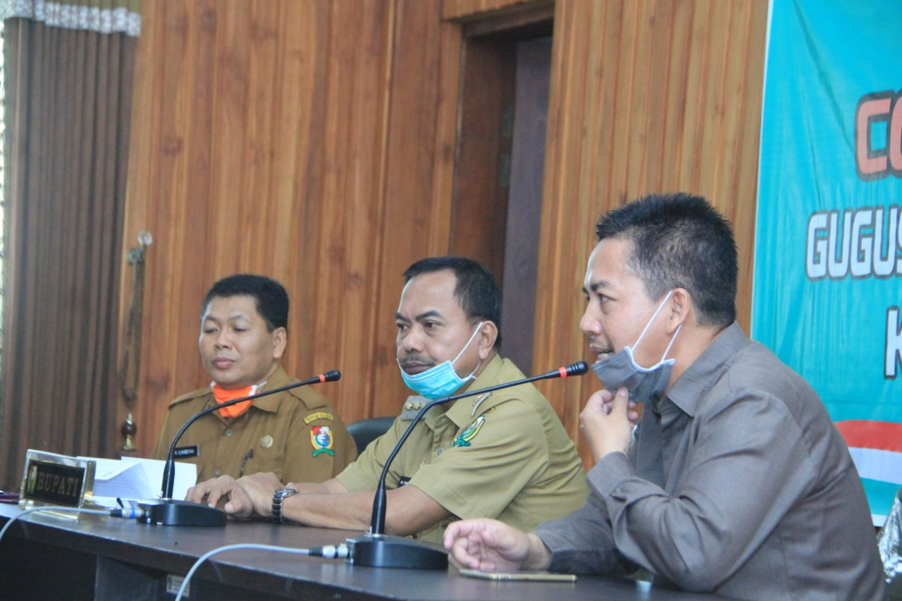 Pansus DPRD Polman Kunjungan ke Tim Gugus Tugas Covid-19 Majene