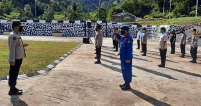 Gambar Penyerahan Jabatan 3 Pejabat Utama Polda Sulbar Dilaksanakan Sesuai Standar Protokol Kesehatan