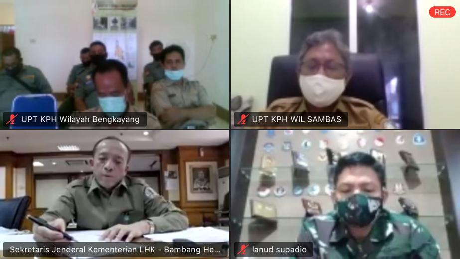 Gambar Cegah Kebakaran Hutan, KLHK Rapat Virtual Dengan Gubernur Kalbar