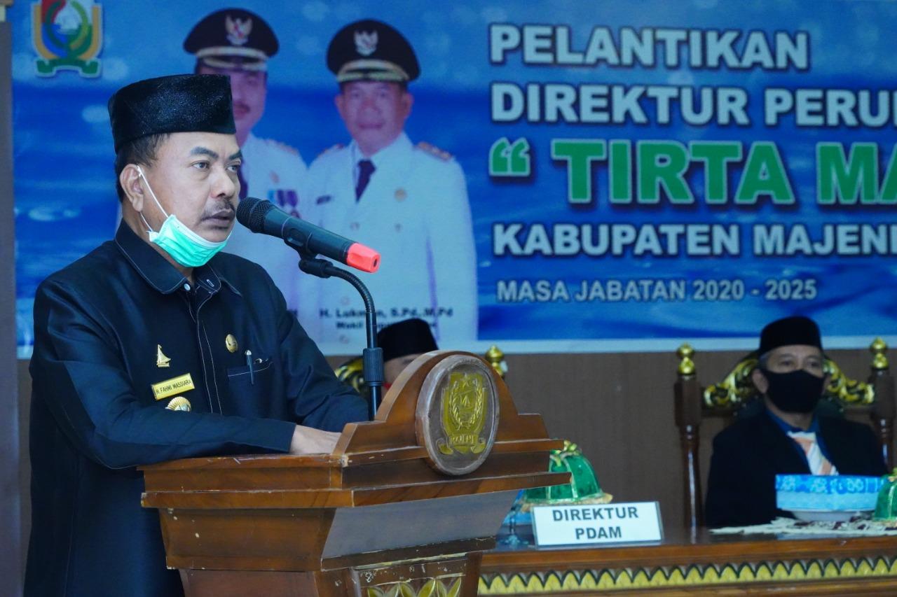 Gambar Ini Harapan Bupati Fahmi kepada Dua Pejabat yang Dilantik