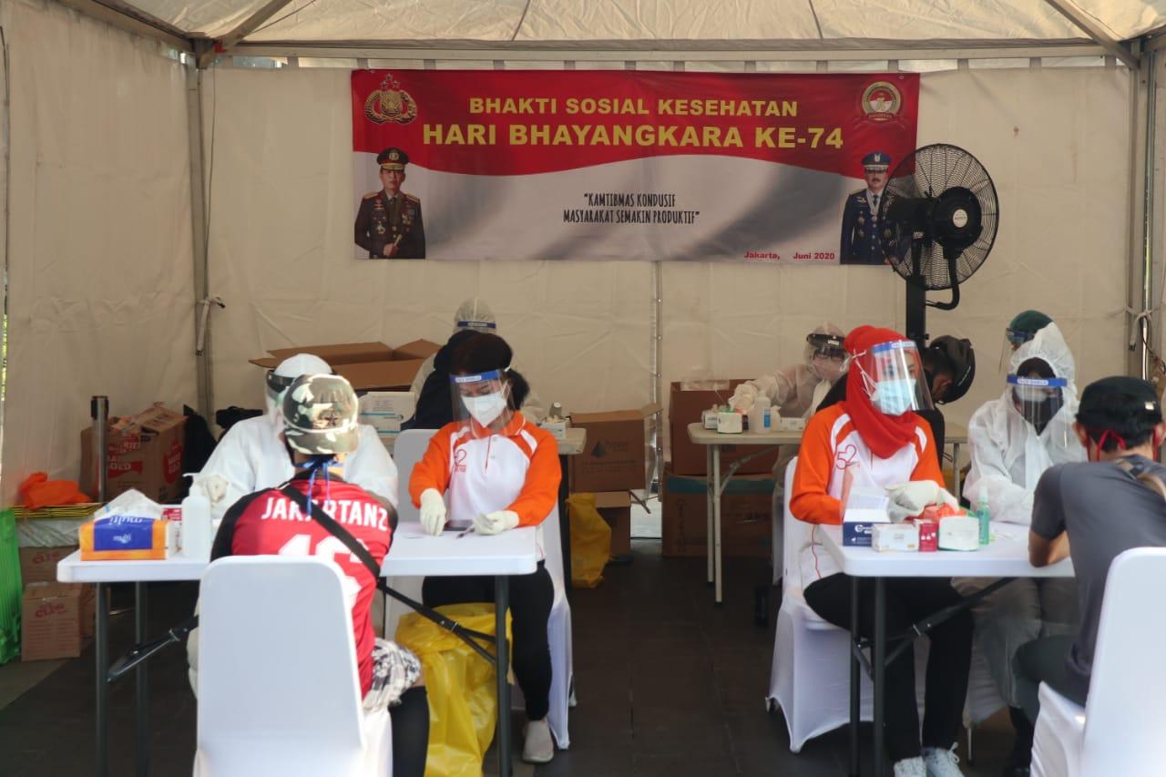 Gambar Polri Gelar Rapid Test Pasca Dibukanya CFD Jakarta