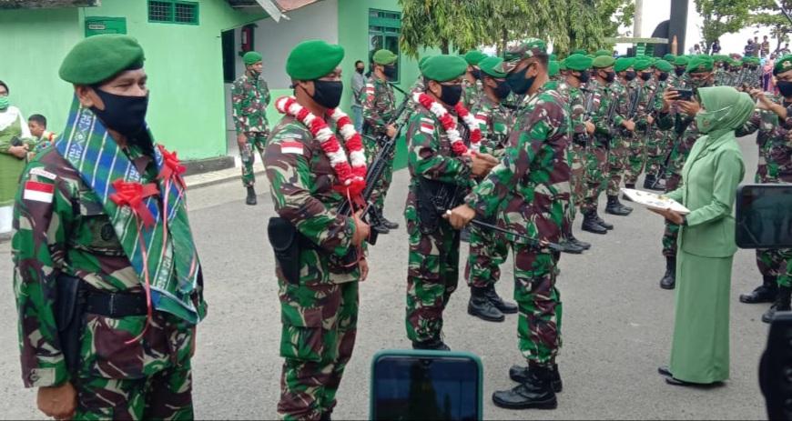 Gambar Dandim Majene Sambut Personel Kompi A Yonif 721/Mks