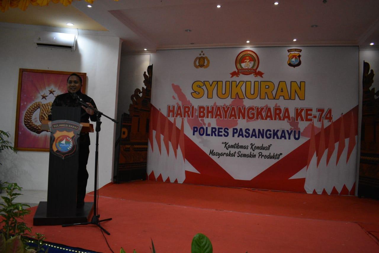 img Polres Pasangkayu Syukuran Dalam Rangka Hari Bhayangkara Ke-74