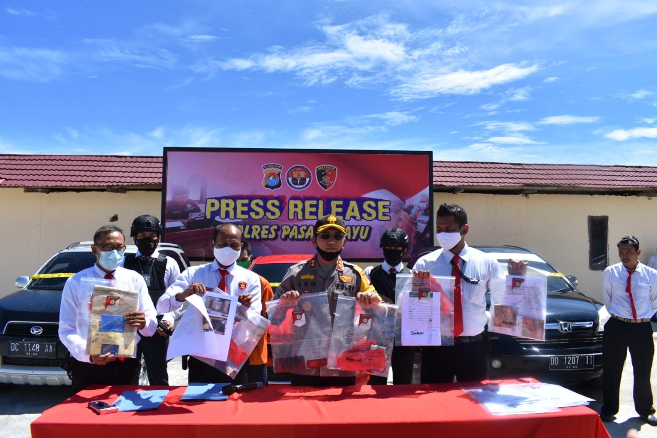 Polres Pasangkayu Release Penangkapan Para Penipu