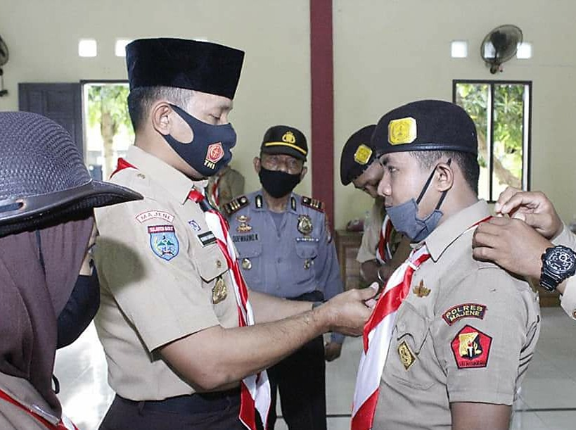 img Kapolres Majene Pimpin Pelantikan PD dan Angkatan XX Saka Bhayangkara