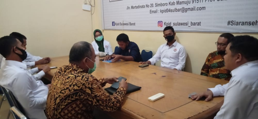 Kerjasama Pengawasan Kampanye, KPID Terima Kunjungan Bawaslu Sulbar