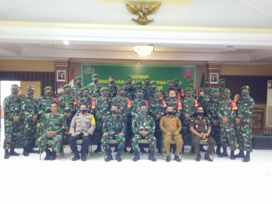 Gambar Ini yang Dipantau Dirsisment Pustrad TNI ke Kodim 1401/Majene