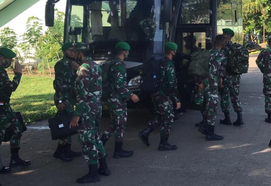 Gambar Caba PK TNI AD Mulai Praktek Lapangan