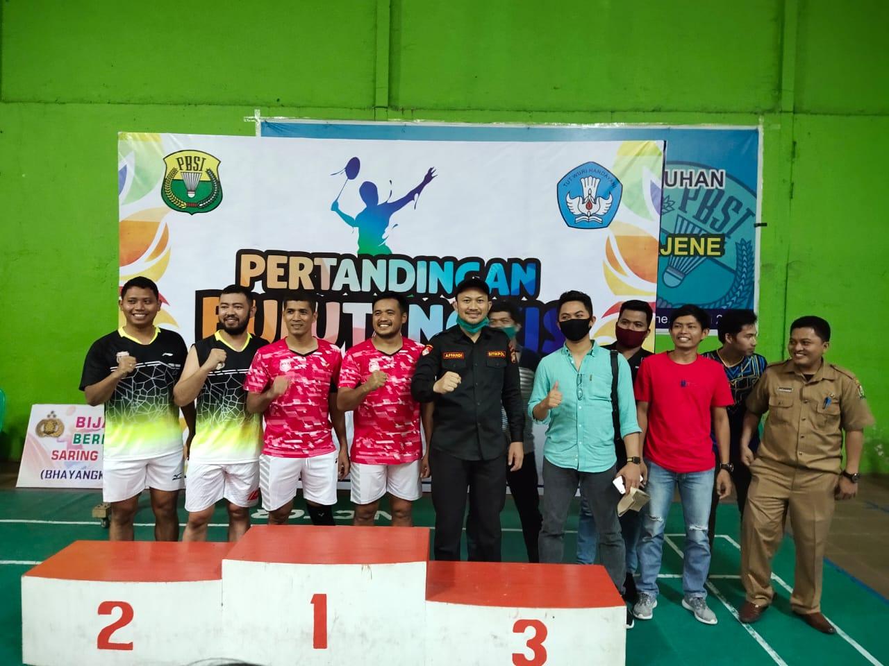 Gambar Mantap, Tim Bhayangkara Sabet Juara 1 dan 3 Turnamen Bulutangkis