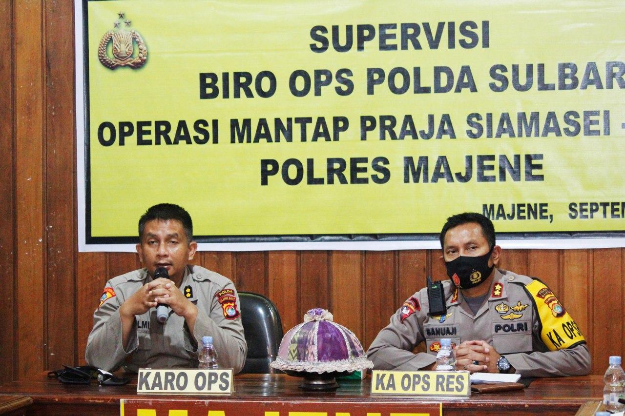 Gambar Kapolres Majene Sambut Tim Supervisi Mantap Praja