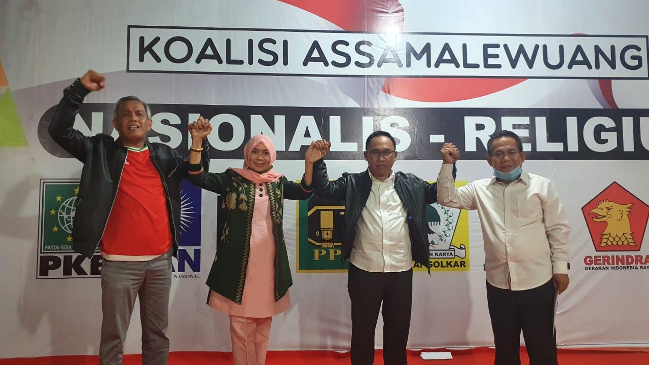 Gambar Di Rumah Pemenangan Patmawati Fahmi-Lukman, Tim Koalisi Nyatakan Sikap